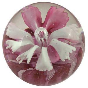 CHEMIN DE CAMPAGNE - presse-papier sulfure fleur en verre ø7 cm - Fermacarte