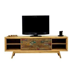 Mathi Design - meuble tv scandinave 180 cm wood - Mobile Tv & Hifi