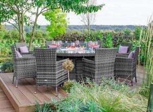 Nova Garden Furniture - flat weave collection - Tavolo Da Giardino Rotondo