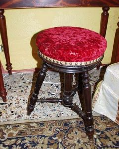 Boutique Antiquidees -  - Sgabello Per Pianoforte