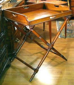 ERNEST JOHNSON ANTIQUES - butler's tray-on-stand in mahogany. - Tavolo Vassoio