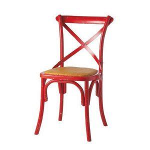MAISONS DU MONDE - chaise rouge traditio - Sedia
