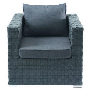 Maisons du monde - fauteuil anthracite square garden - Poltrona