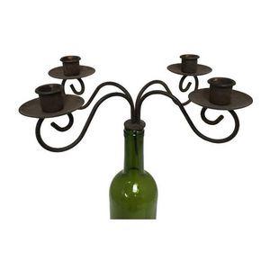 CHEMIN DE CAMPAGNE - bougeoir chandelier à bouteille pour bouteille 9x2 - Candelabro