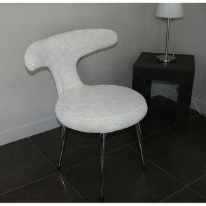 Mathi Design - chaise velours coloré fifties - Sedia