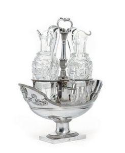 Dario Ghio Antiquites -  - Oliera E Ampolla Per Aceto