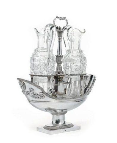 Dario Ghio Antiquites - Oliera e ampolla per aceto-Dario Ghio Antiquites